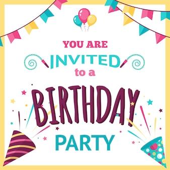 Ilustração de convite de festa