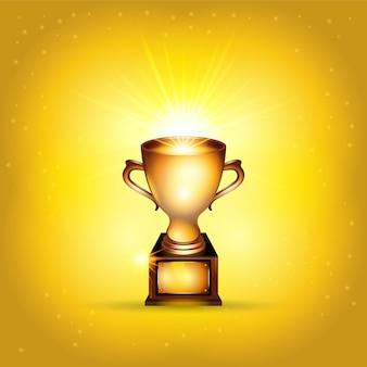 Ilustração de copa do troféu de ouro realista