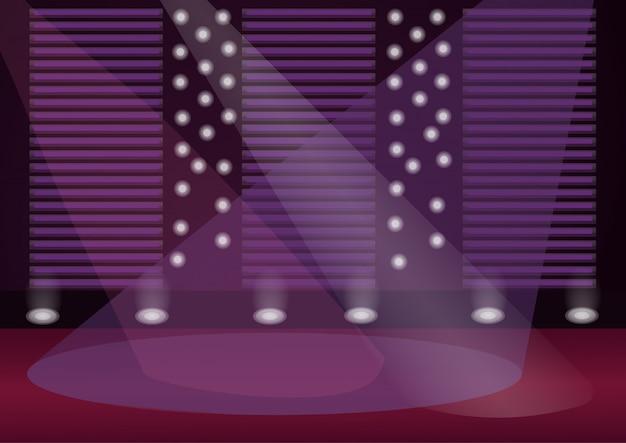 Ilustração de cor do palco vazio