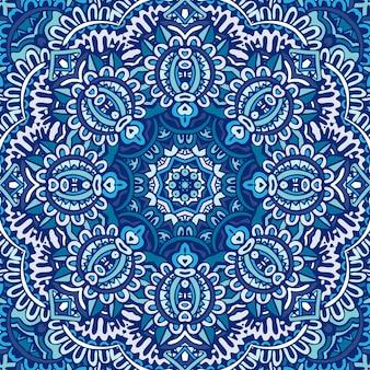 Ilustração de cor ornamental abstrata com cobertura estilizada. padrão sem emenda de fundo de inverno