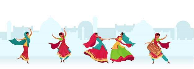 Ilustração de cor plana de celebração de diwali