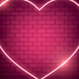 Ilustração de coração de néon