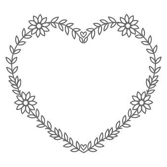 Ilustração de coração floral para o dia dos namorados e decoração
