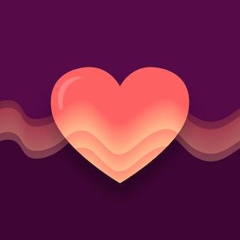 Ilustração de coração gradiente