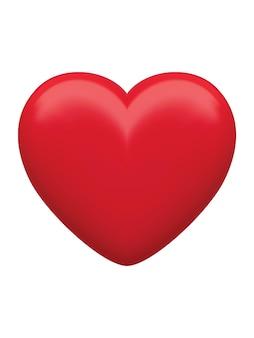 Ilustração de coração vermelho isolado