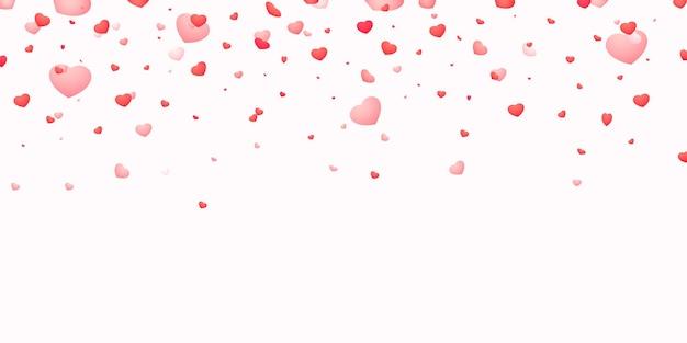 Ilustração de corações caindo. projeto de decoração de casamento ou dia dos namorados