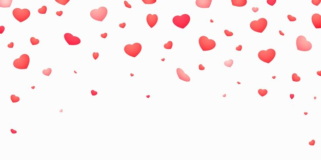 Ilustração de corações caindo