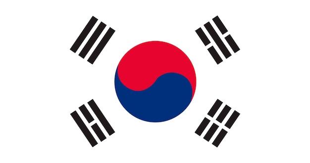 Ilustração, de, coréia sul, bandeira