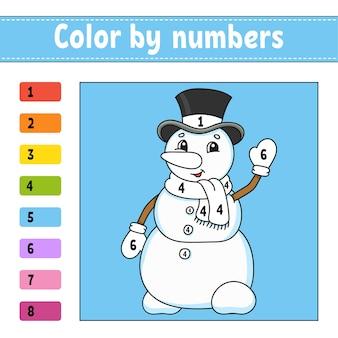 Ilustração de cores por números