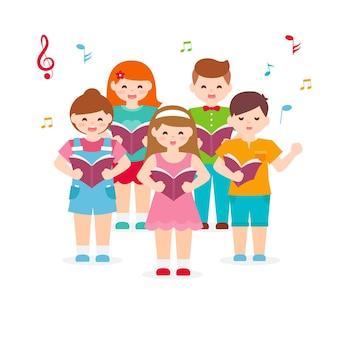 Ilustração de coro infantil