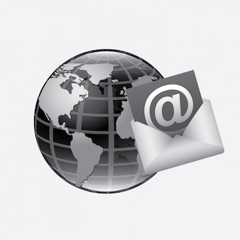 Ilustração de correio