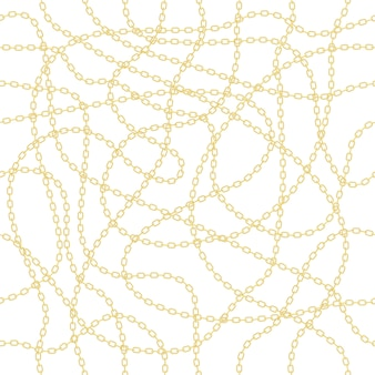 Ilustração de corrente de ouro