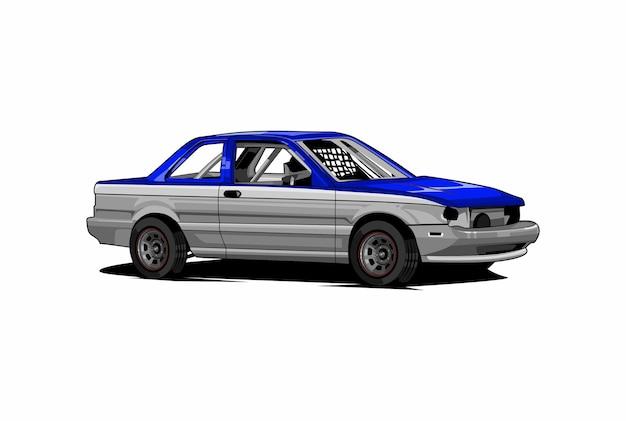 Ilustração de corrida de stock car