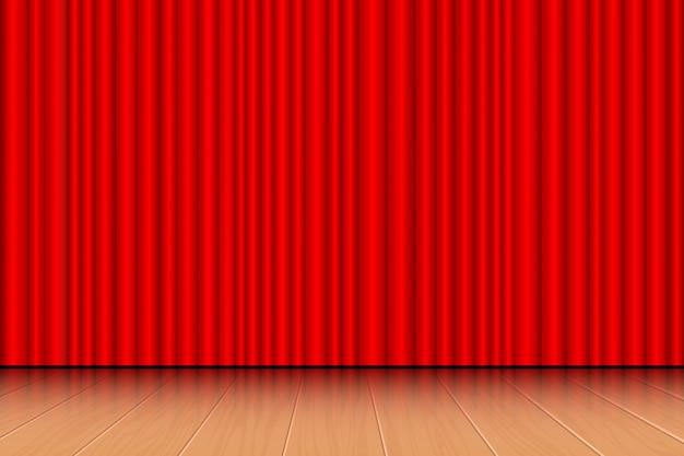 Ilustração de cortina de teatro