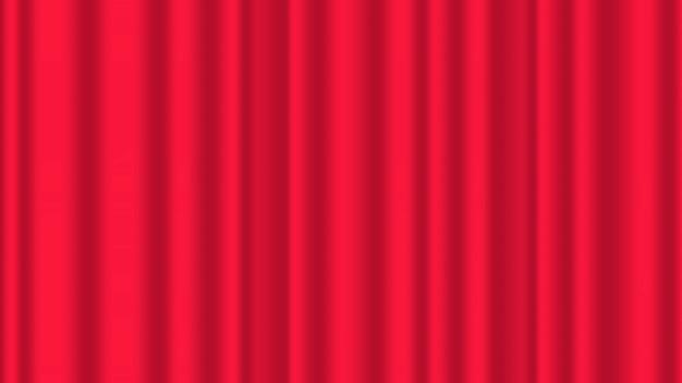 Ilustração de cortina vermelha