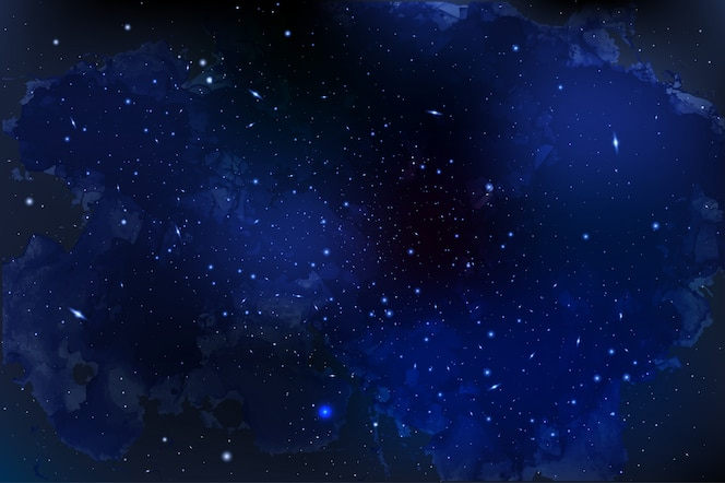 Ilustração de cosmologia com universo, galáxia, sol, planetas e estrelas. pode ser usado para convite ou livreto. visão futurista com profundidade e espaço de fundo