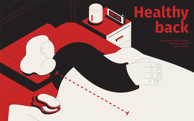 Ilustração de costas saudáveis