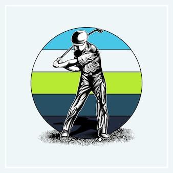 Ilustração de cotações de golfe