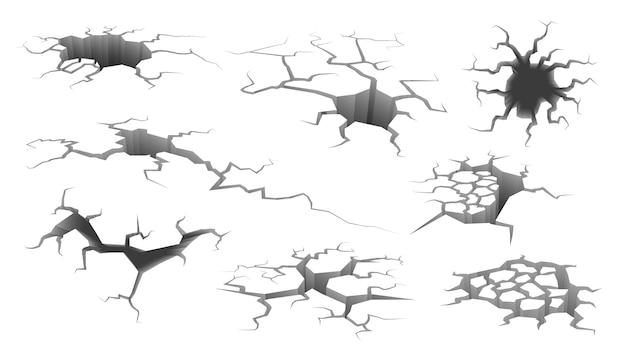 Ilustração de crack de terremoto