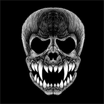 Ilustração de crânio