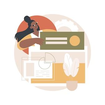 Ilustração de criação da página de destino