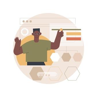 Ilustração de criação de sitemap