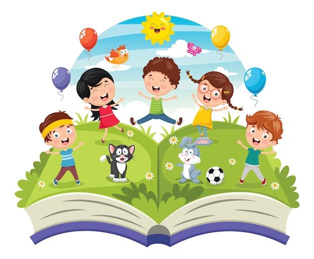 Ilustração de crianças