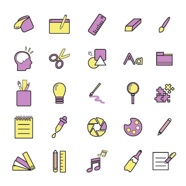 Ilustração, de, criativo, desenho gráfico
