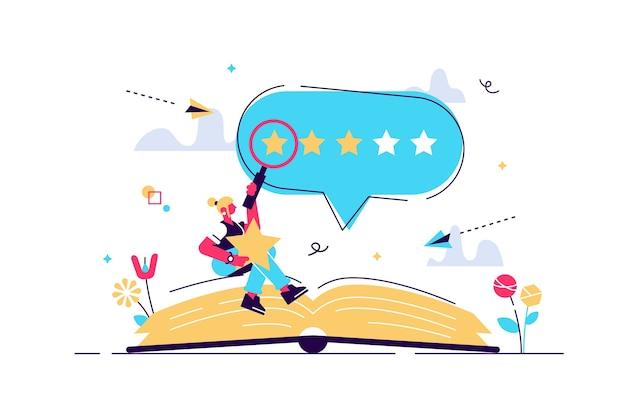 Ilustração de crítica de livro