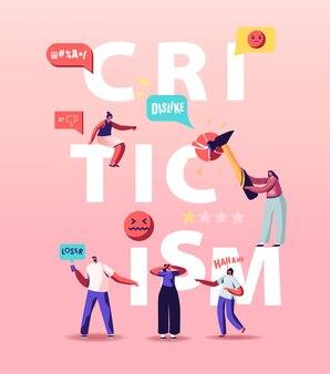 Ilustração de crítica