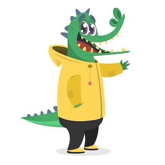 Ilustração de crocodilo engraçado dos desenhos animados