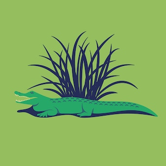 Ilustração de crocodilo