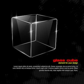 Ilustração de cubo de vidro