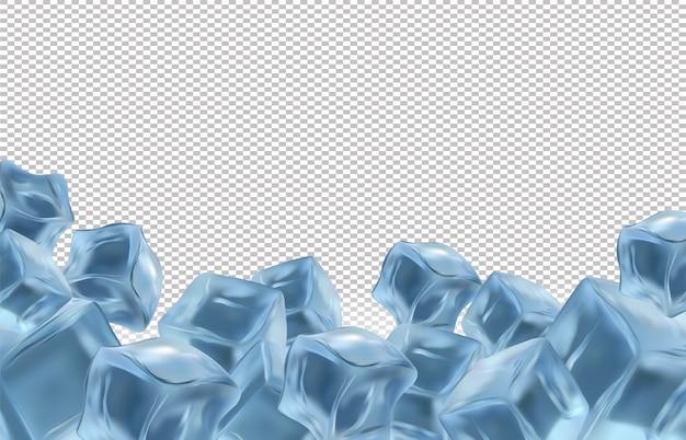 Ilustração de cubos de gelo congelados
