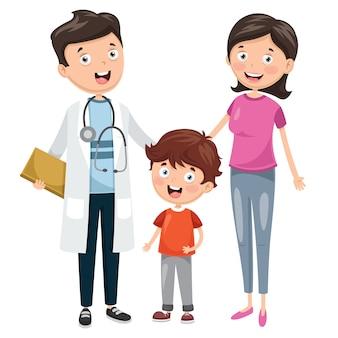 Ilustração de cuidados de saúde e médicos