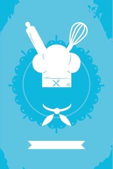 Ilustração de culinária com chapéu de chef