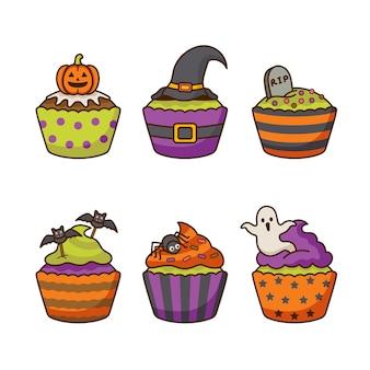 Ilustração de cupcake de halloween