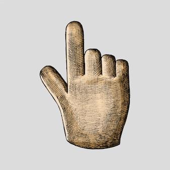 Ilustração de cursor de mão desenhados à mão