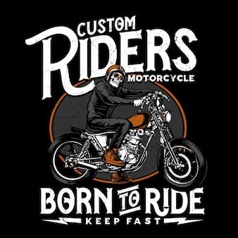 Ilustração de custom riders