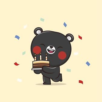 Ilustração de cute animal bear