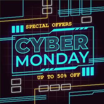 Ilustração de cyber monday