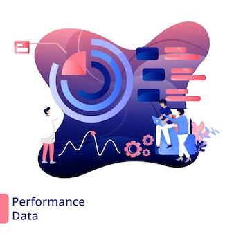 Ilustração de dados de desempenho estilo moderno