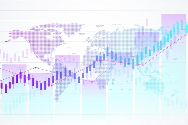 Ilustração de dados do mercado de ações