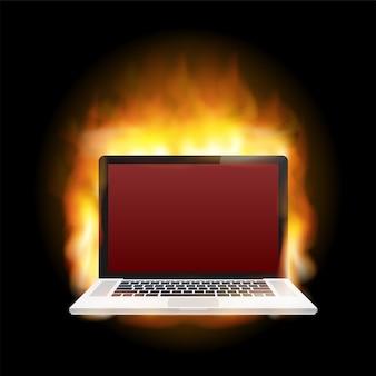 Ilustração de danos ao laptop