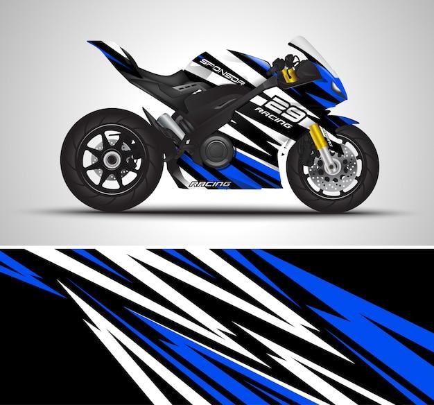 Ilustração de decalque de motocicleta