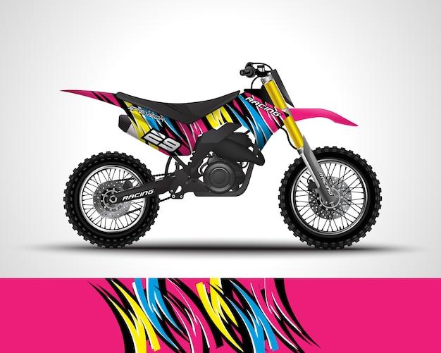 Ilustração de decalque de motocross