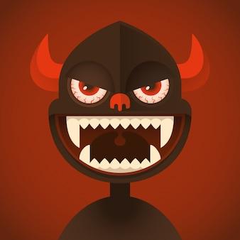 Ilustração de demônio cômico