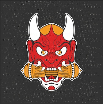 Ilustração de demônio japonês