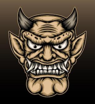 Ilustração de demônio japonês.