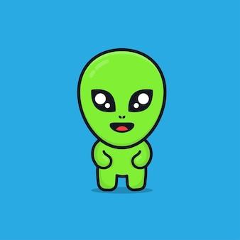 Ilustração de desenho alienígena fofa